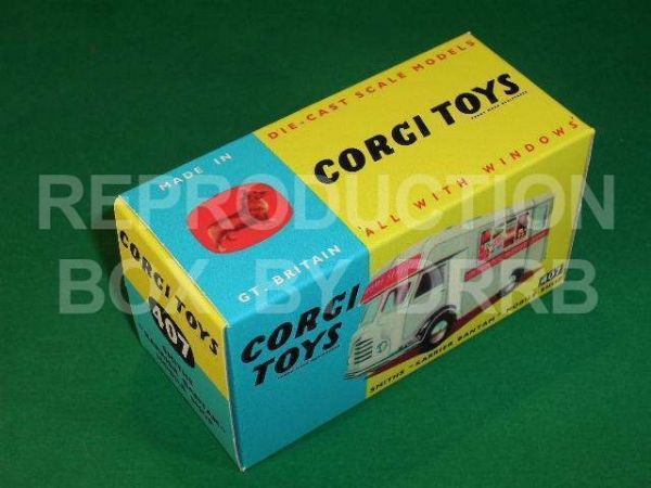 Corgi #407 Smith's Karrier Bantam Mobile Shop - Reproduction Box